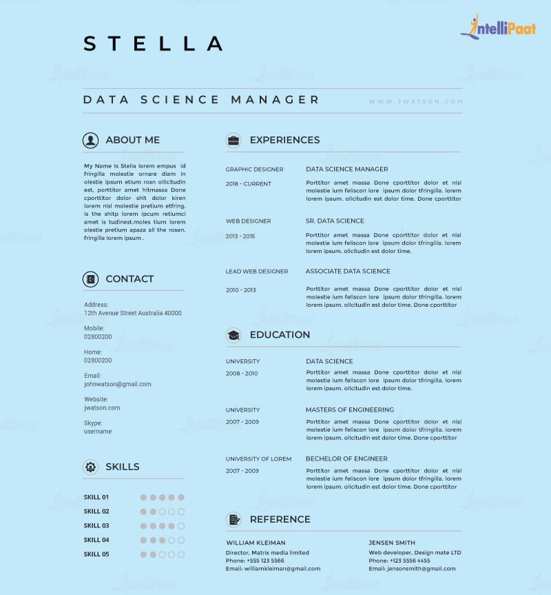 Data Science Resume Template
